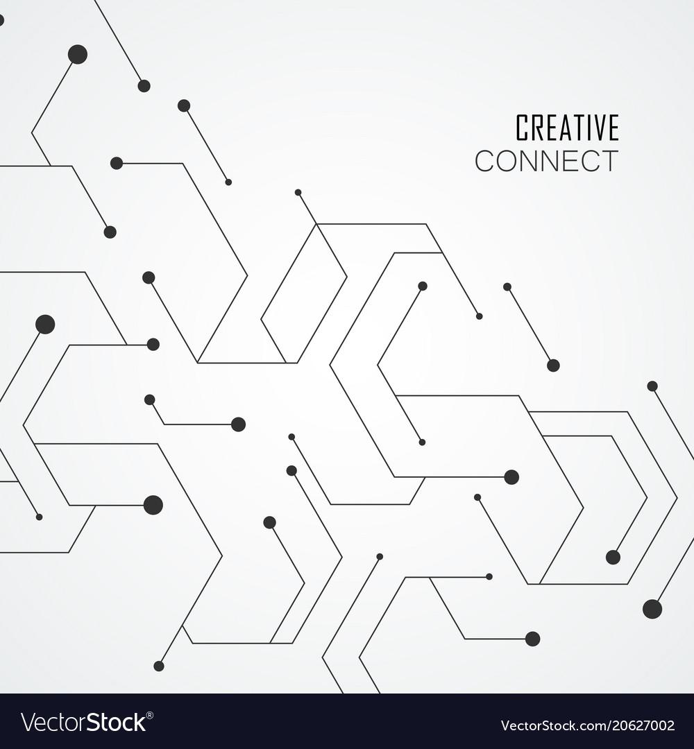 Technology hexagons structure