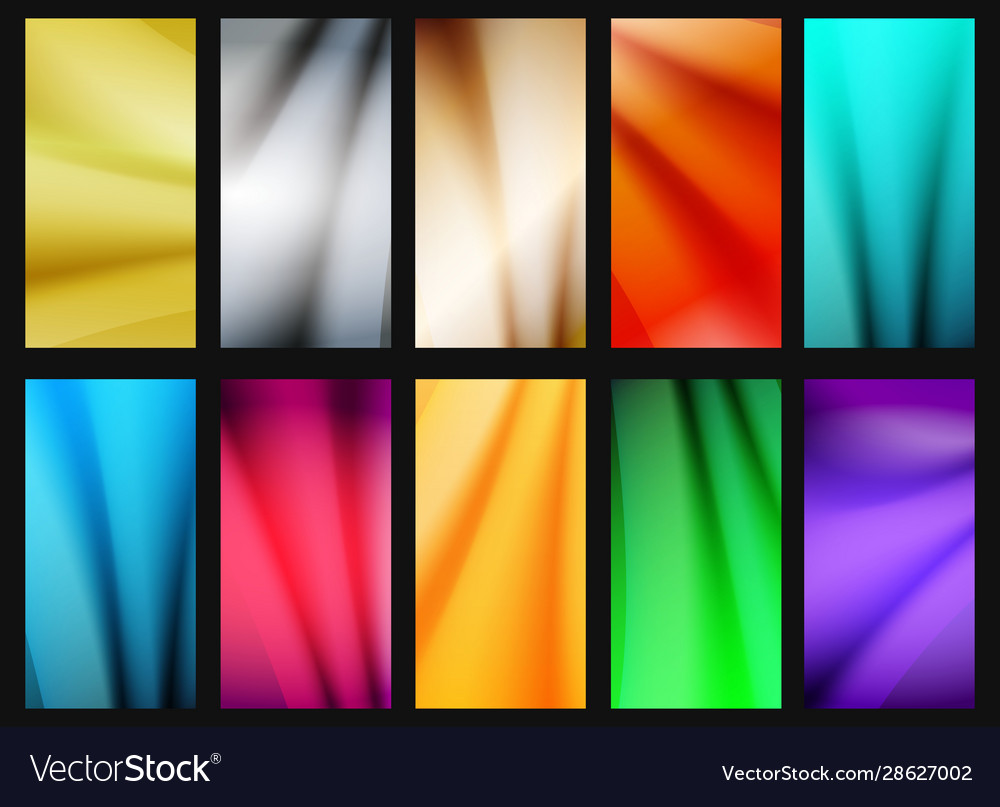 Vibrant simple background set