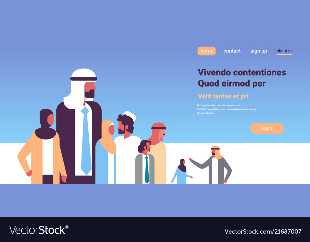 Arabic business people group communication concept
