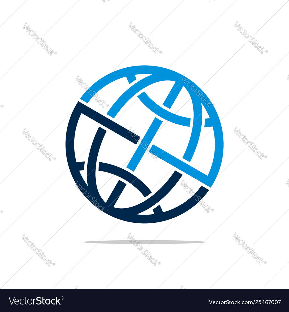 Globe logo template for communication business