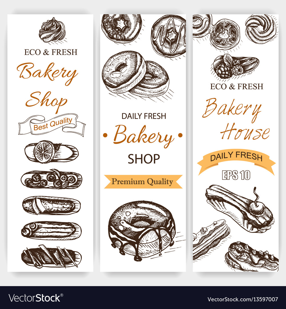 Sketch bakery vintag card
