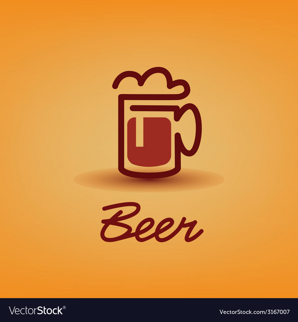 Traditional beer cup symbol