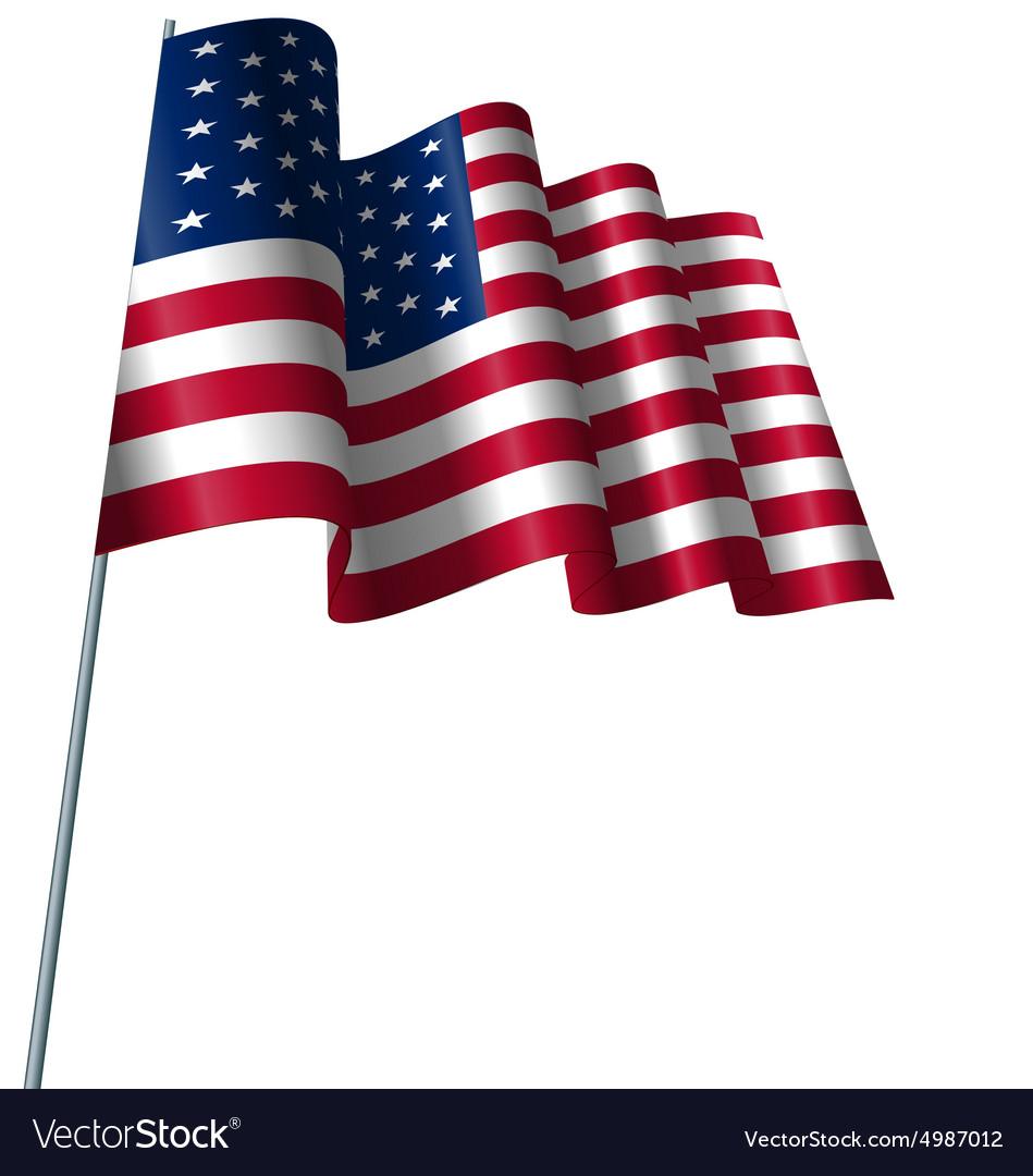 American Flag Waving Wind