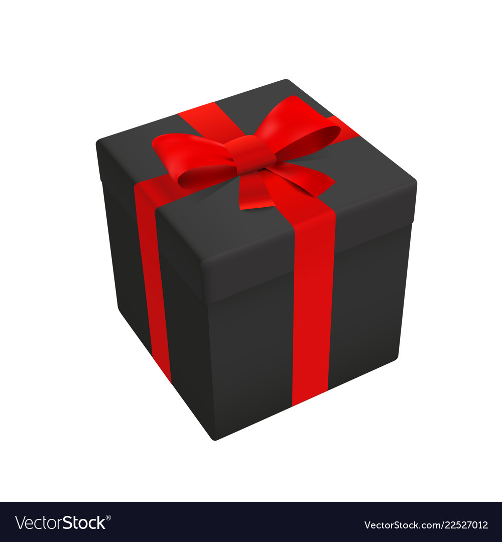 Black Gift Pack Box Top Royalty Free Vector Image