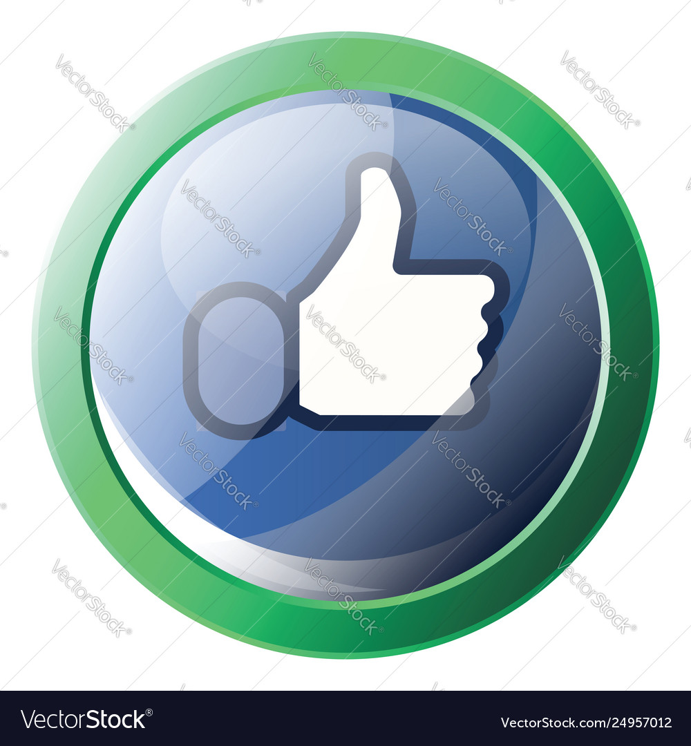 Facebook like symbol inside a green circle icon
