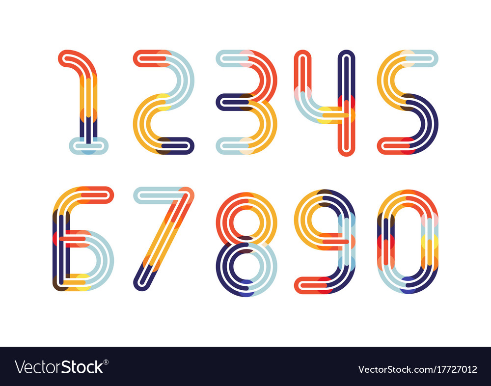 Numbers colorful overlay