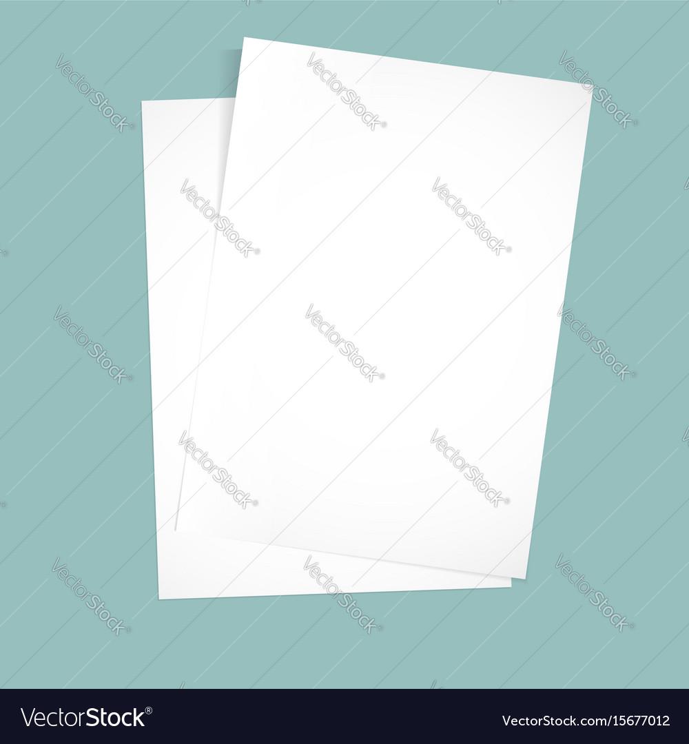 Paper on a blue background mock up
