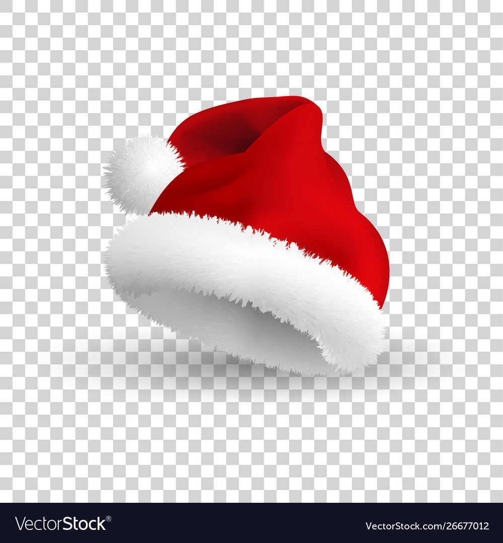 Santa claus hat isolated on transparent background