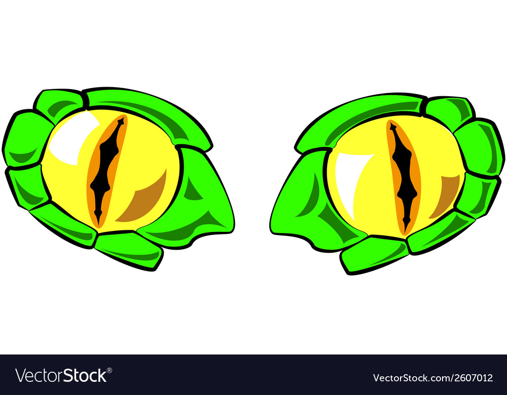Snake Eyes In Color Royalty Free Vector Image