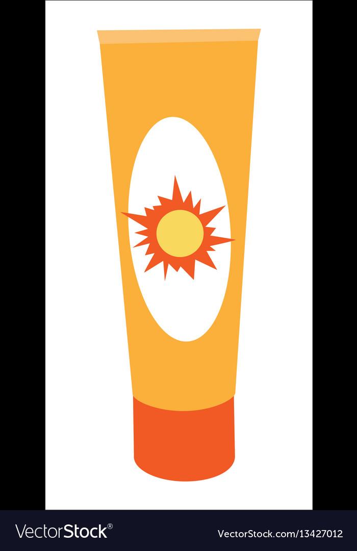 Sunscreen cream bottle vector image