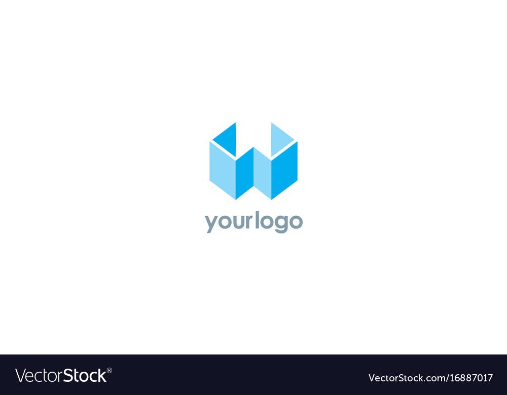 3d letter w logo