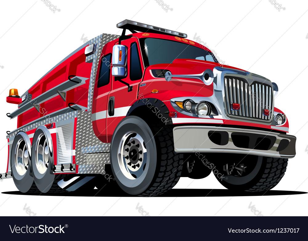 cartoon fire truck royalty free vector image vectorstock rh vectorstock com fire truck vector art fire truck vector art