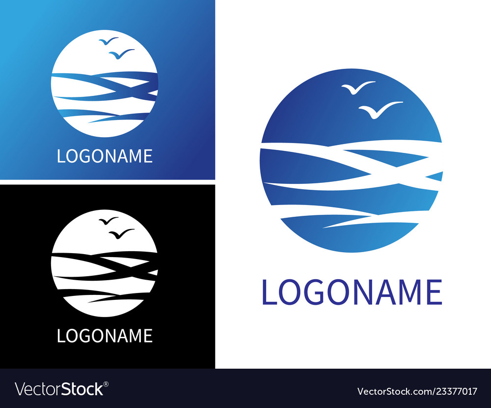 Design modern logos for business sea water rest