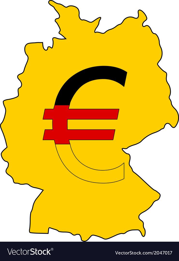 German Currency Royalty Free Vector Image Vectorstock