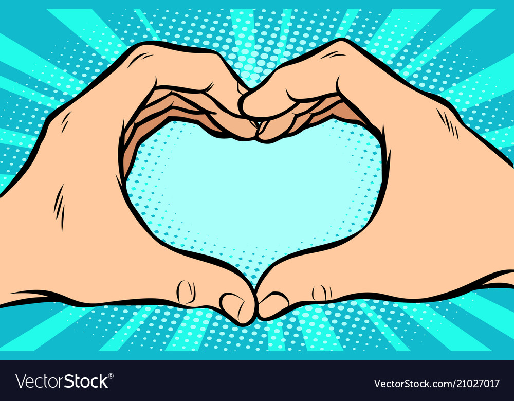 Gesture with hands heart