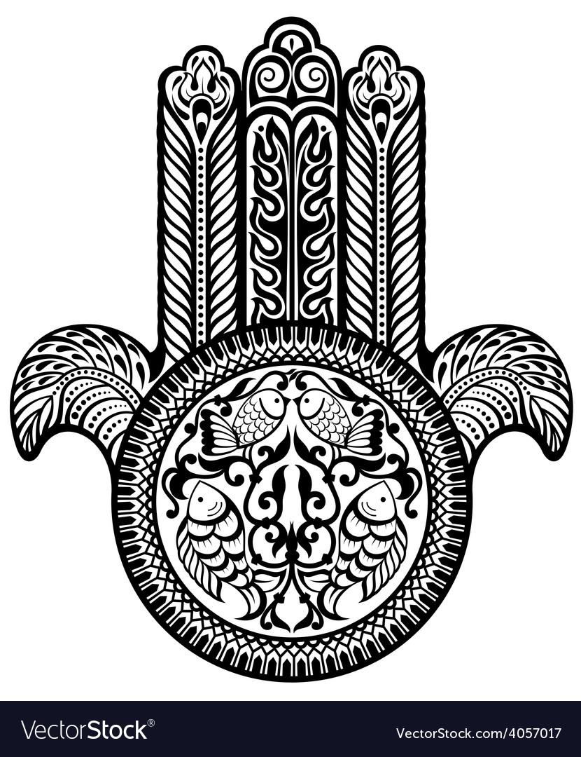 Jewish Hamsa Sacred Amulet Royalty Free Vector Image