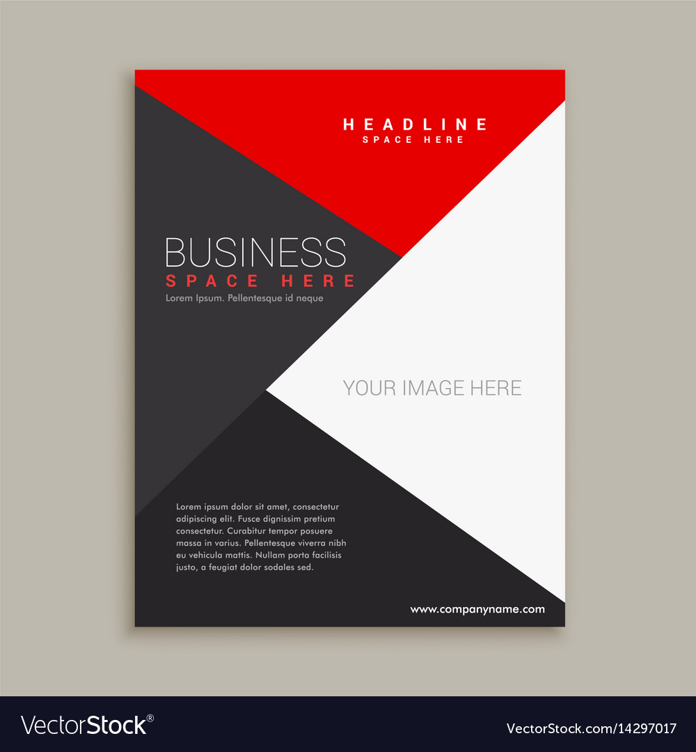 Modern Minimal Brochure Design Template Royalty Free Vector