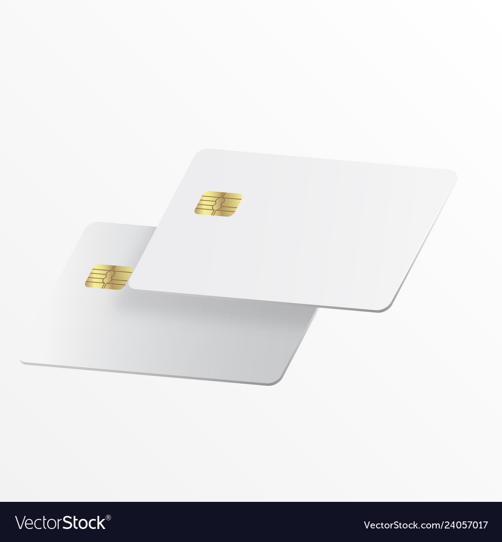 Realistic white credit card