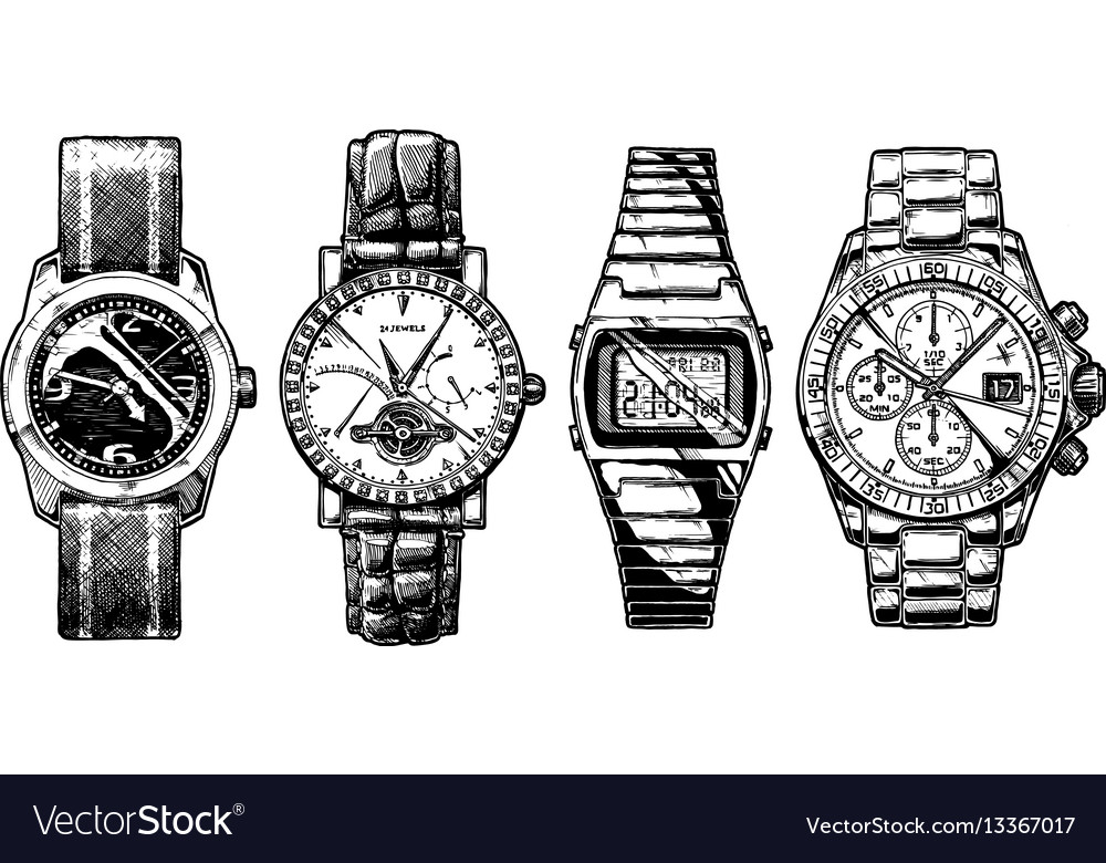 Set of mens wristwatches
