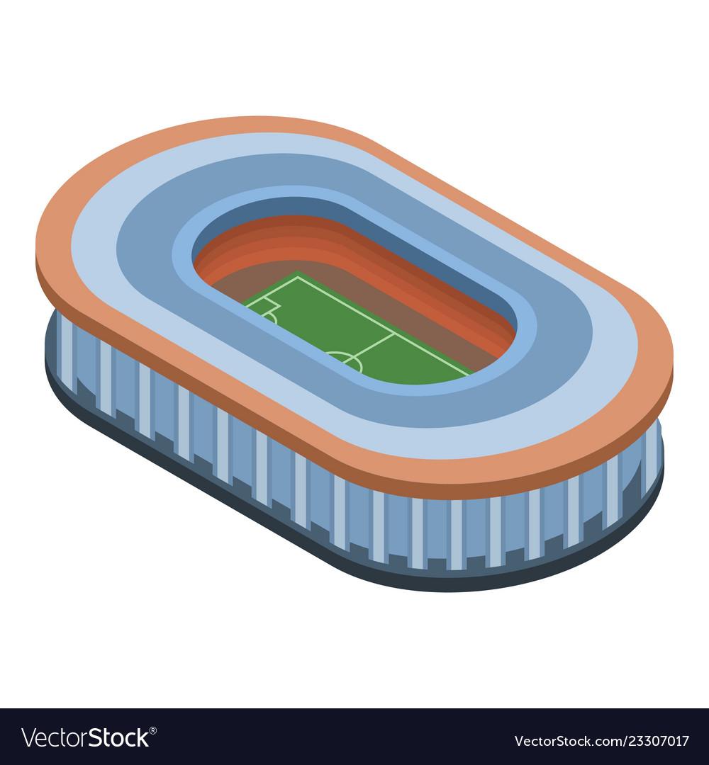 Sport building icon isometric style