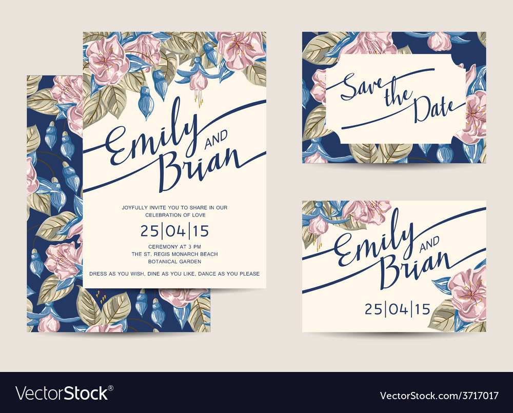 wedding invitations template royalty free vector image