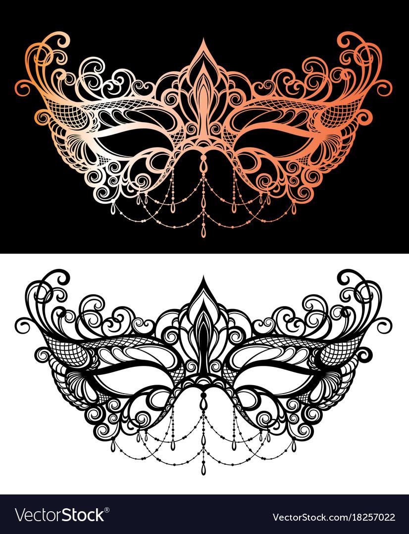 Beautiful lace masquerade mask Royalty Free Vector Image  Masquerade Mask Vector