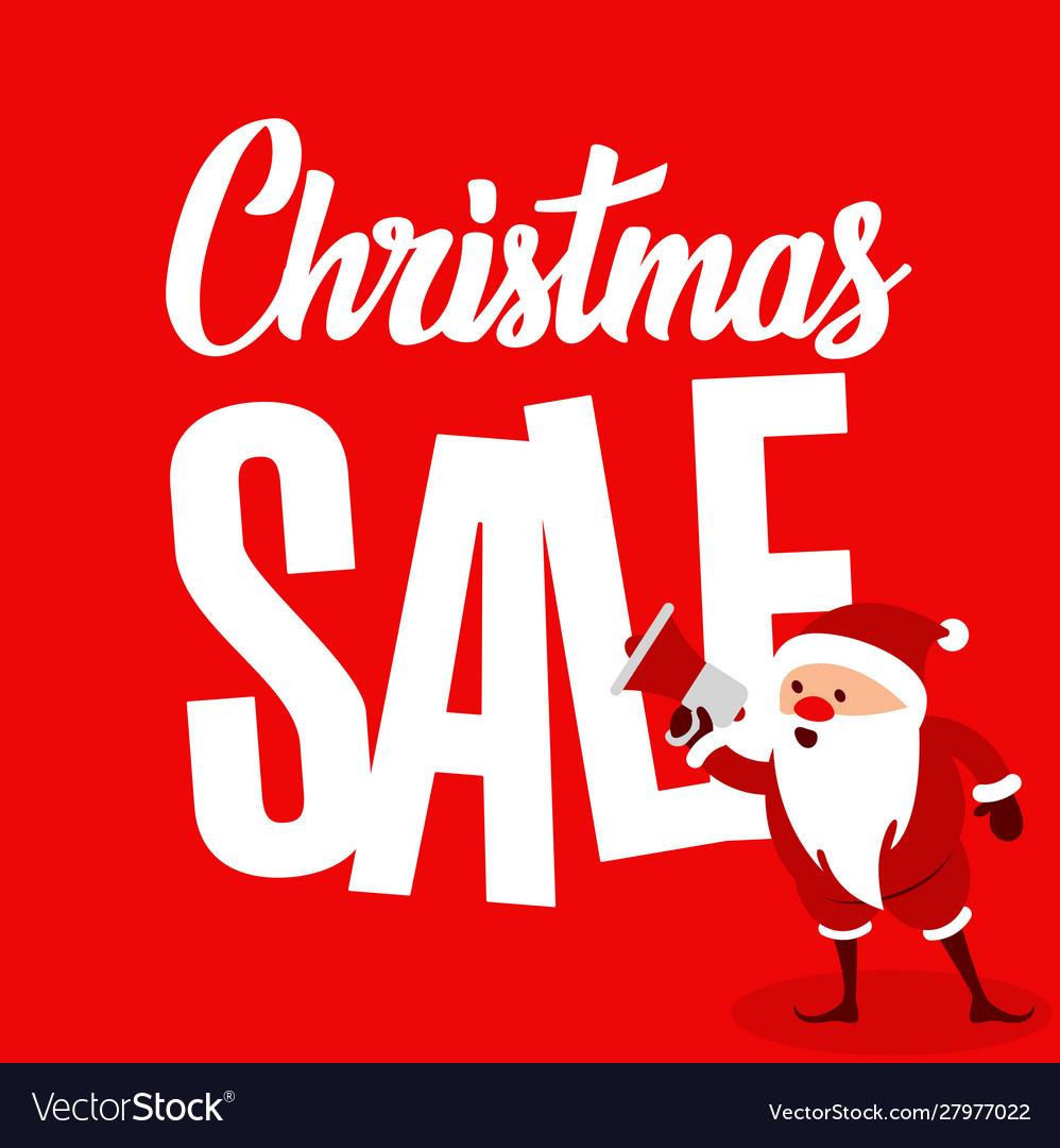 Big christmas sale with santa