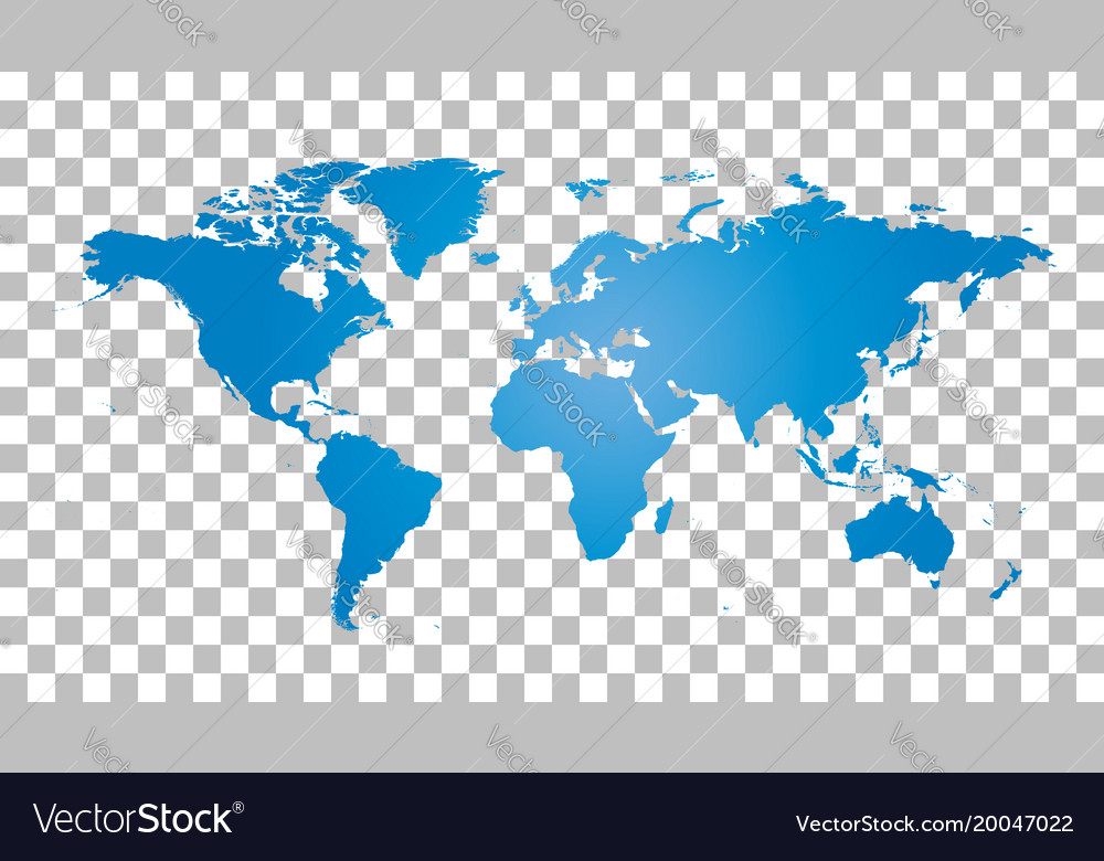 Picture Of A Map Of The World.Blank Blue World Map On Isolated Background World