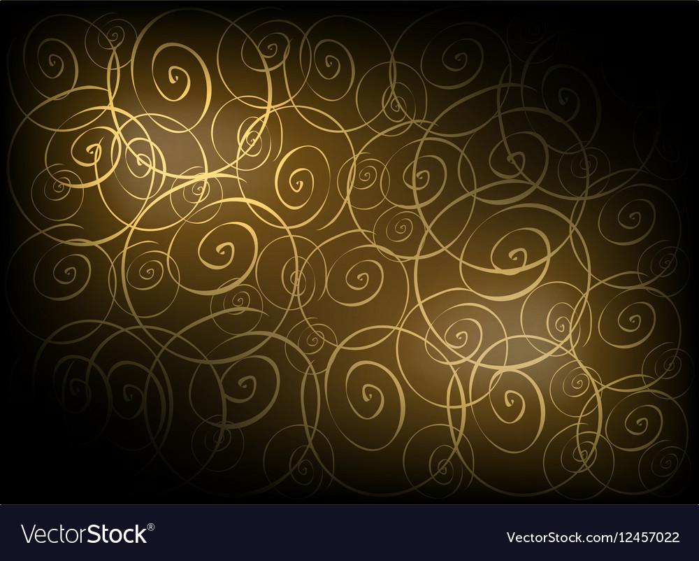 Brown Vintage Wallpaper with Spiral Pattern