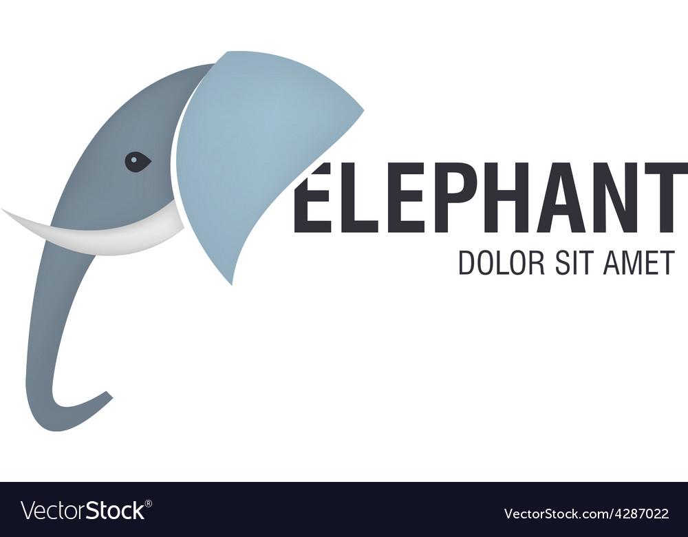 Elephant head logo vector image