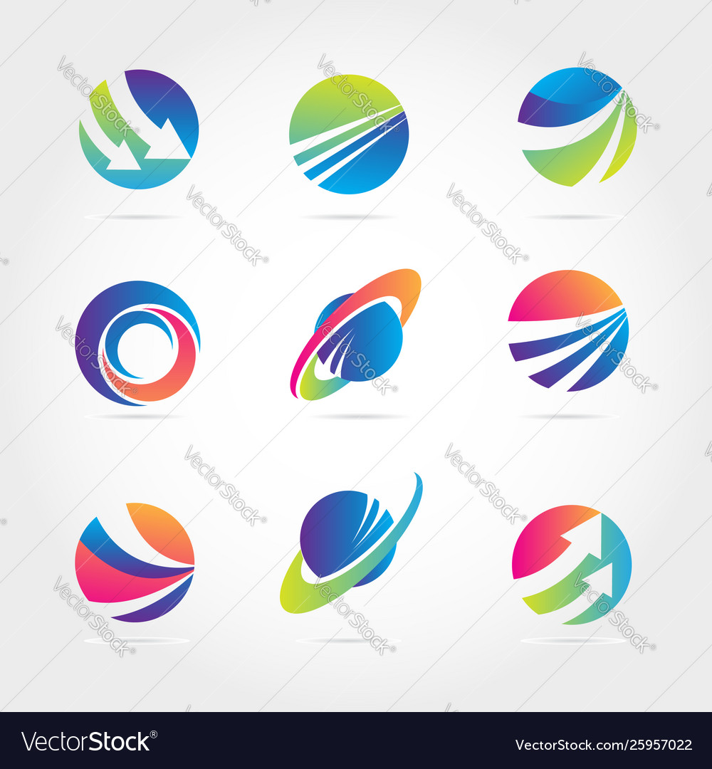 Global finance company business logo template vector