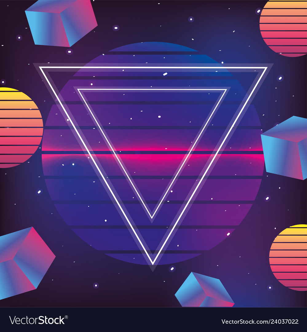 Neon geometric texture and fashion graphic