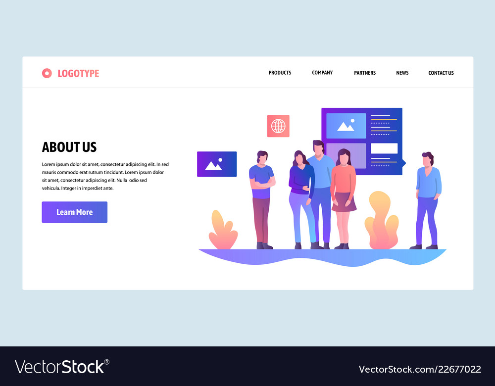 Web site design template about us company