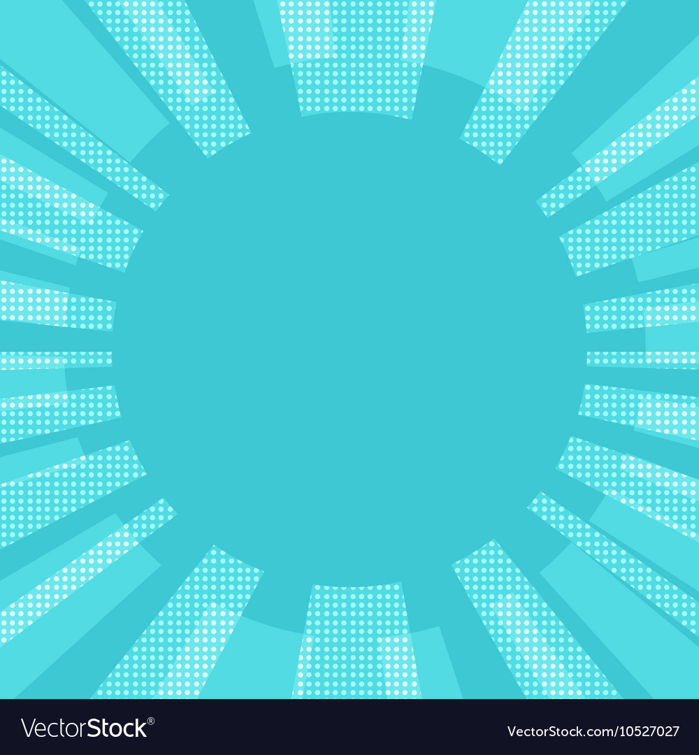 Blue comic retro background sun