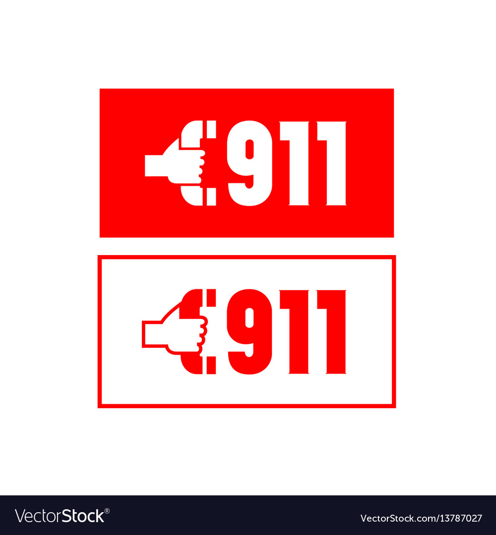 Call 911 - 2 vector image
