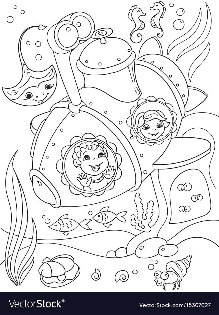 Children exploring the underwater world in a