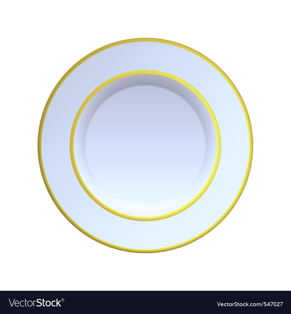 China plate vector image