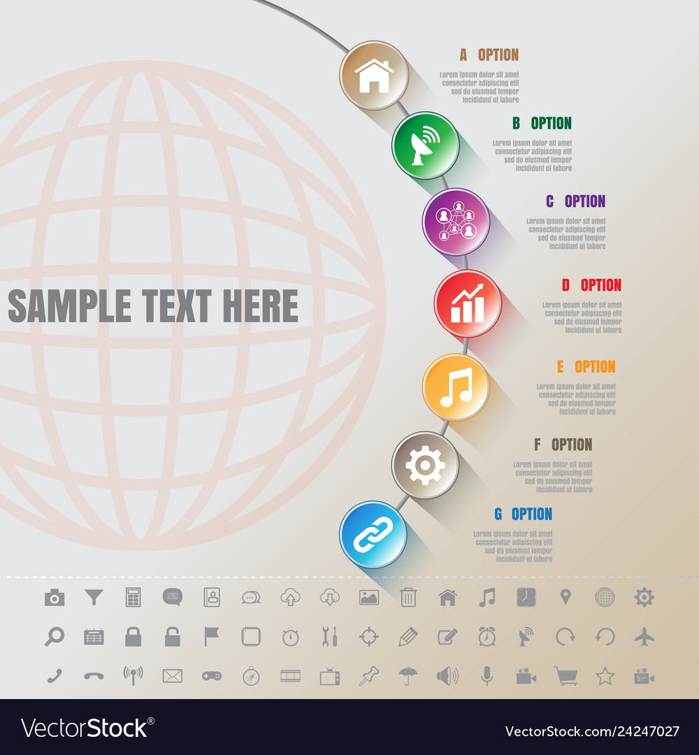 Colorful modern infographic complement time line