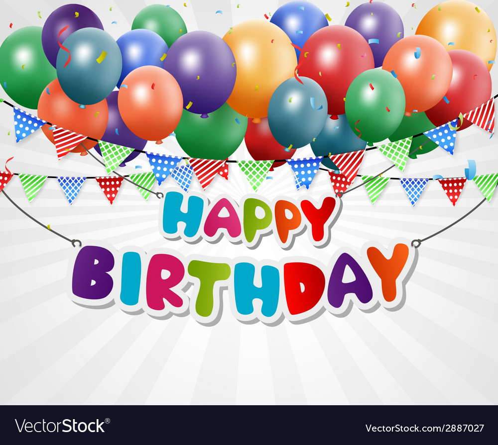 Happy Birthday Greeting Card Background Royalty Free Vector