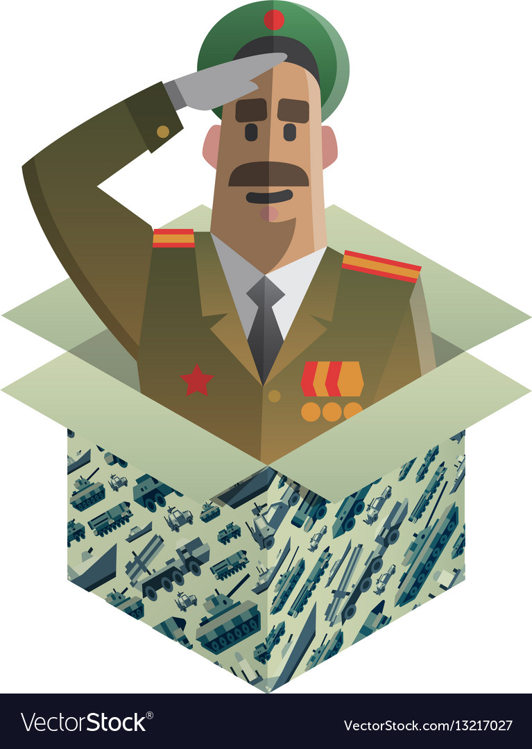 Isometric gift for day of defenders of fatherland