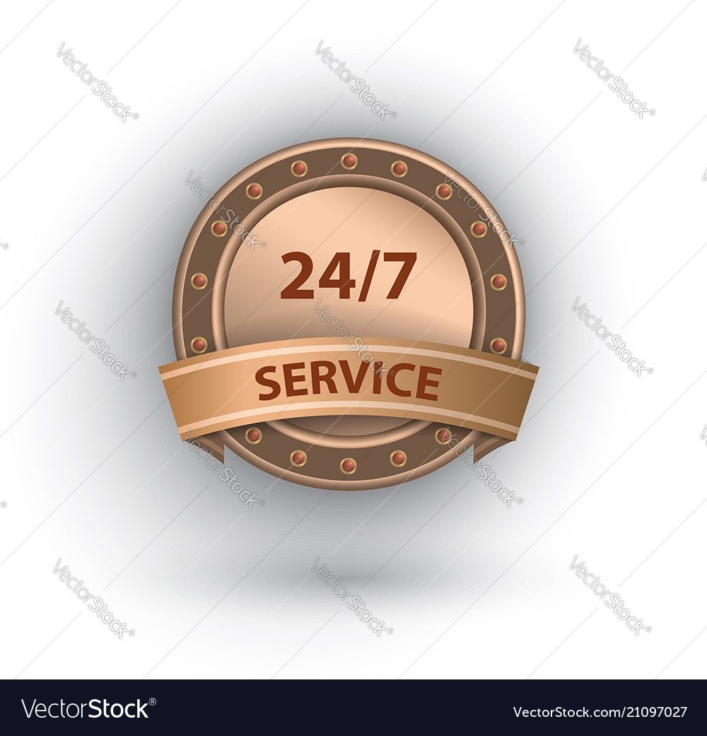 Open 24 7 hours service label