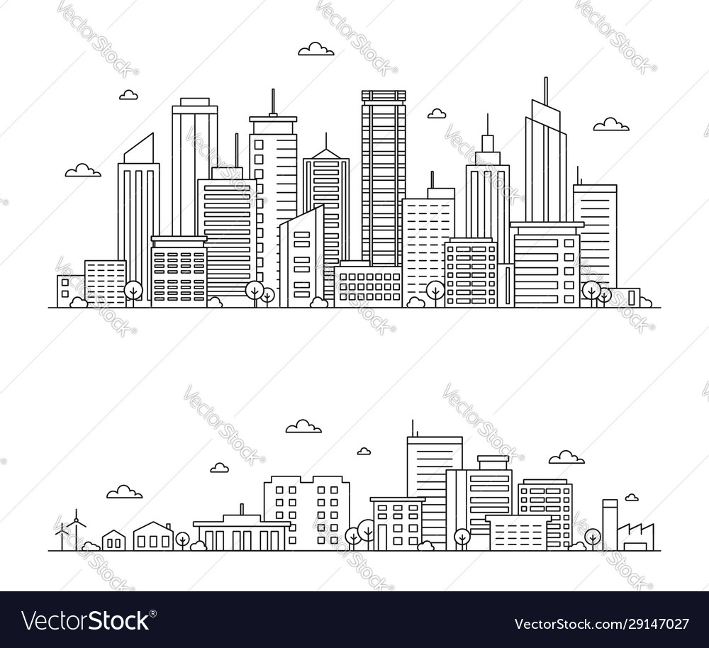 Outline city landscape