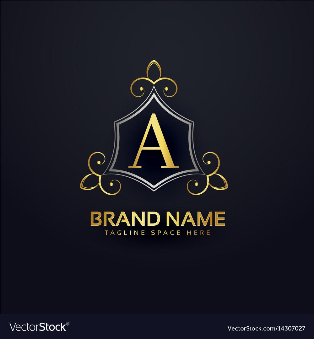 Premium logo design for letter a vector image