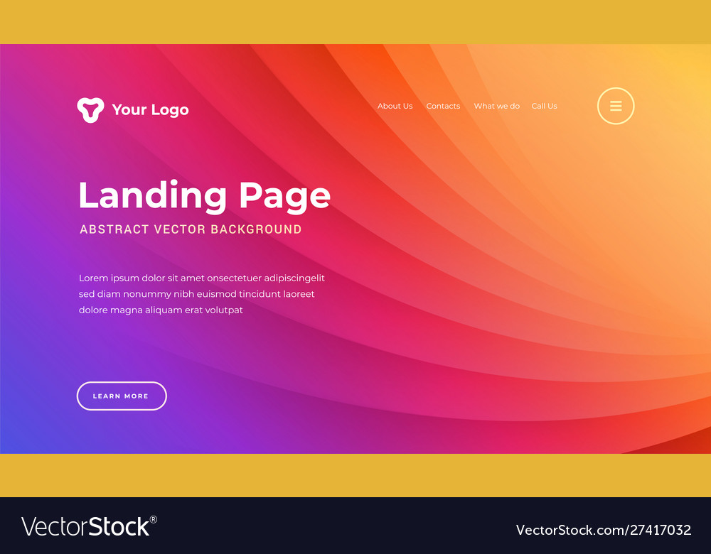 Abstract background dynamic light lines website