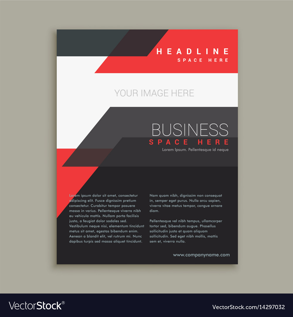Abstract business style red black brochure