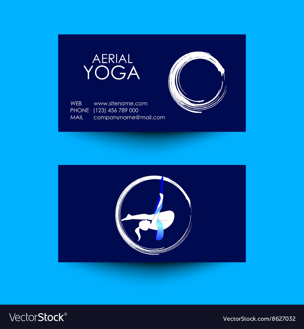 Business card of aerial yoga studio royalty free vector business card of aerial yoga studio vector image reheart