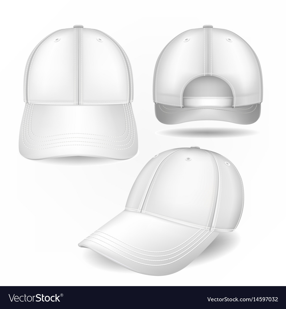 e3ba7e97b98 Cap mockup in front side and back views Royalty Free Vector