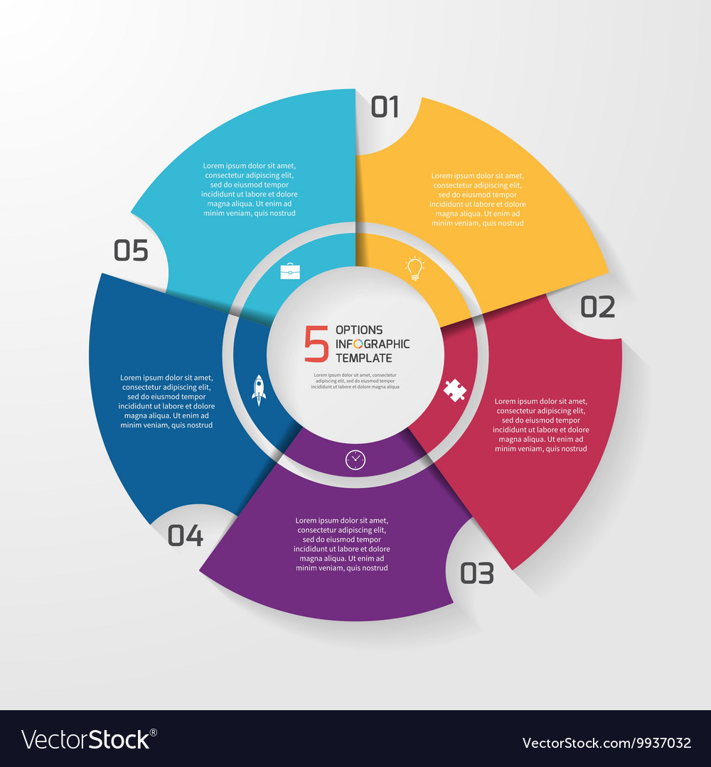 Circle infographic 5 options