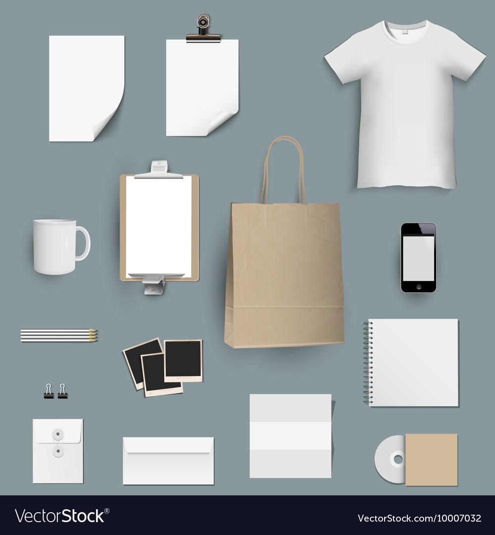 Corporate identity template design set