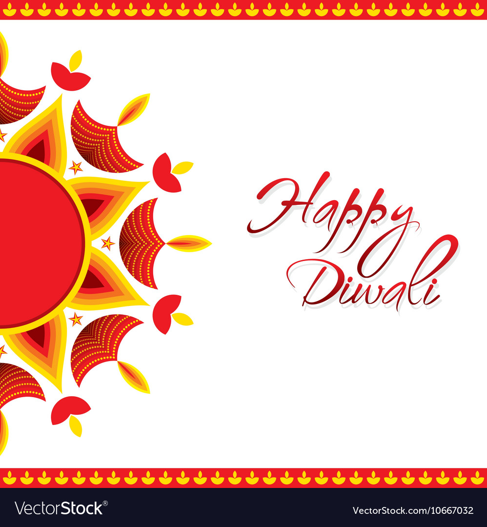 Creative happy diwali greeting card design vector image m4hsunfo